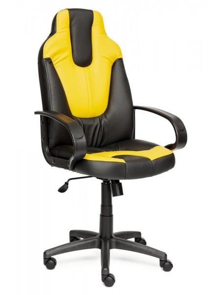 Кресло NEO (1) кож/зам, черный/жёлтый, 36-6/36-14