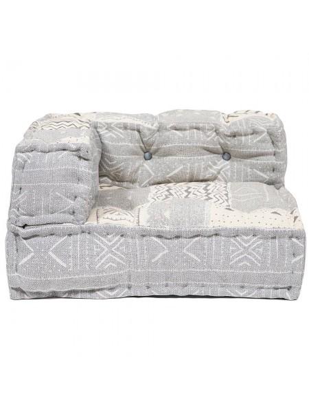 Модуль мягкий угловой Secret De Maison GARDA (mod. 10090) cotton Kilim, 80х80х43см, серо-бежевый