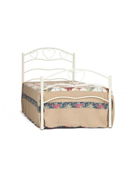 Кровать ROXIE 90*200 см (Single bed), белый (White)