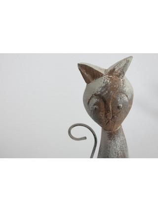 Декор Secret De Maison CATS набор из 3 штук ( mod. M-11464 ) дерево манго, A-12*8*52,B-9*8*42, C-7*6*32, натуральный/white wash