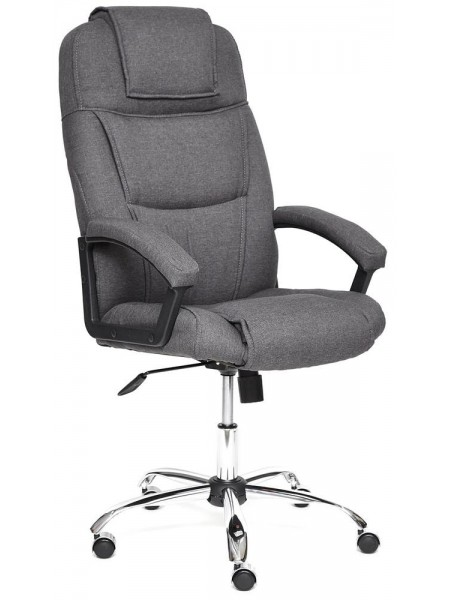 Кресло BERGAMO (хром) ткань, темно-серый, F68