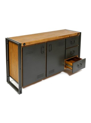 Комод Secret De Maison CITY ( mod. CTY D01) металл/дерево акация, 150х45х80см, коричневый дым (smoke brown B034)