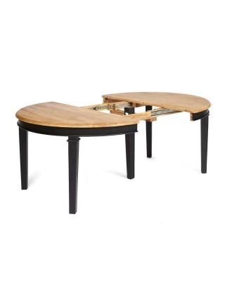Стол обеденный Secret De Maison XXL дерево манго, D130-250х130х77см, Black (черный)/ Natural (натуральный)