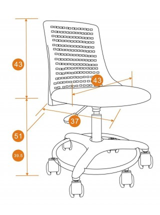 Кресло Kiddy ткань, бирюзовый