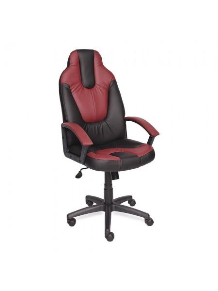 Кресло NEO (2) кож/зам, черный/бордо, 36-6/36-7