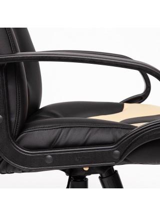 Кресло NEO (1) кож/зам, черный/бежевый, 36-6/36-34