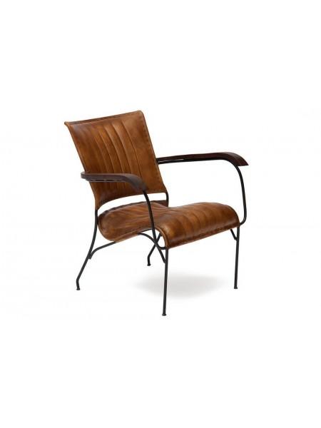 Кресло Secret De Maison PAGANEL ( mod. 2106 ) металл/кожа буйвола, 65х62х75см, Античный светлый