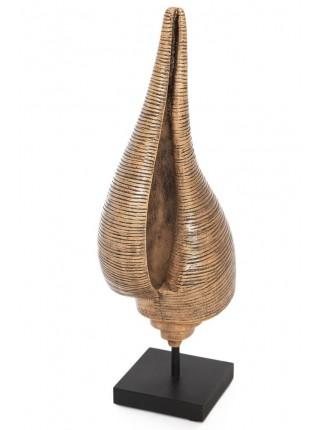 Декор ракушка Secret De Maison SHELL ( mod. MA-1406 ) дерево манго, 37см, коричневый/brown