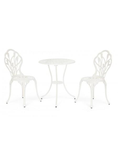 Комплект Secret De Maison Waltz of flowers (стол +2 стула) Вальс цветов алюминиевый сплав, D60/H67, 47Х41Х86см, butter white