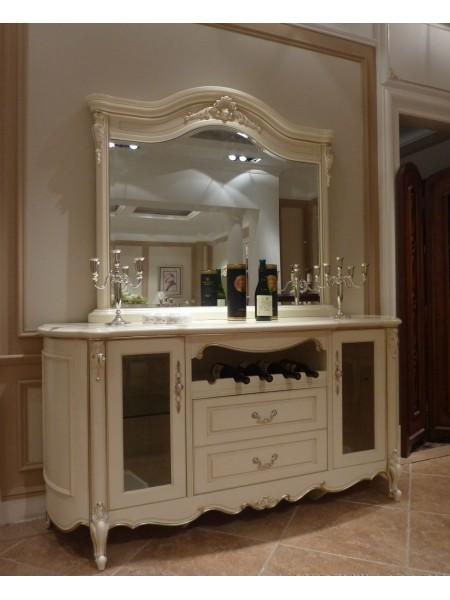 Сервант c зеркалом 8803 Милано 185х56х210 см