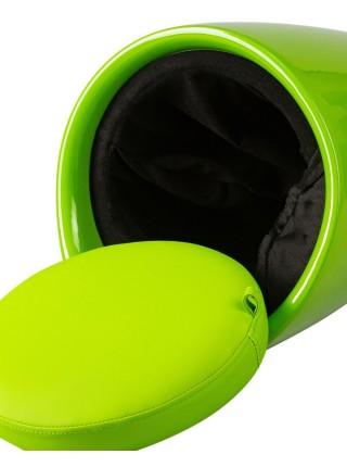Табурет кухонный 1100 пластиковый с местом для хранения зеленый