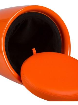 Табурет кухонный 1100 пластиковый с местом для хранения оранжевый