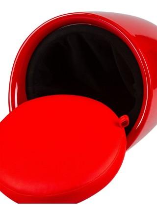Табурет кухонный 1100 пластиковый с местом для хранения красный
