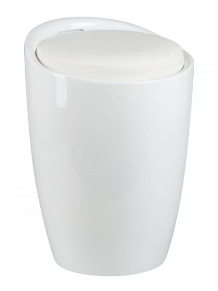 Табурет кухонный 1100 пластиковый с местом для хранения белый