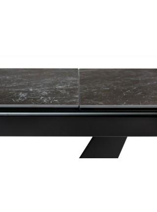 Стол ACUTO2 170 BLACK MARBLE Черный мрамор матовый, керамика/ черный каркас М-City NEW!