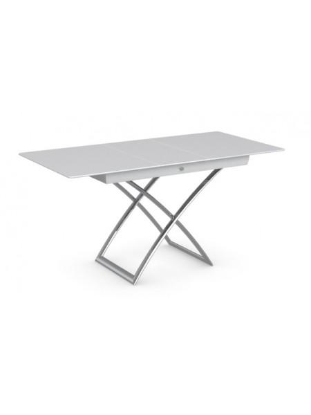 Стол MAGIC-J CS/5041-G, P77 chrome/ P64 white/ glass GXW extrawhite