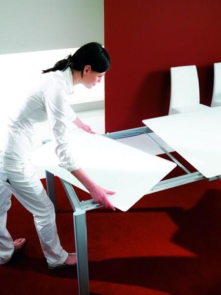 Стол MAGO (01.34) 100/140*70*Н75 см (М312/ M312/ М312 песочн.композит+L072ал)