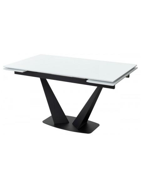 Стол Ниагара 160 Белый, стекло / черный каркас М-City