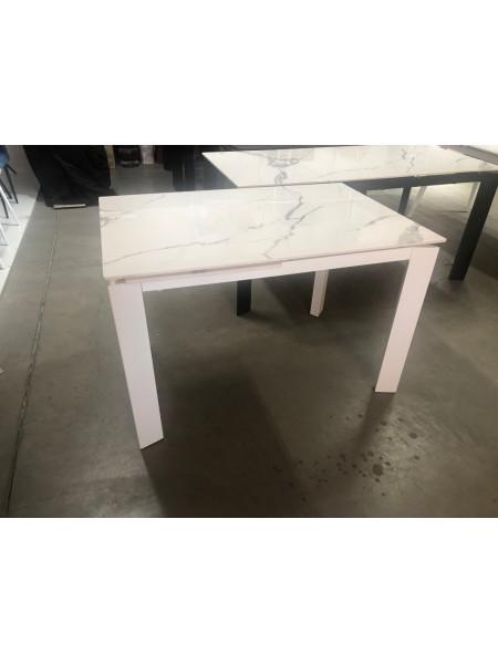 Стол CORNER 120 GLOSS STATUARIO WHITE SINTERED STONE / WHITE М-City
