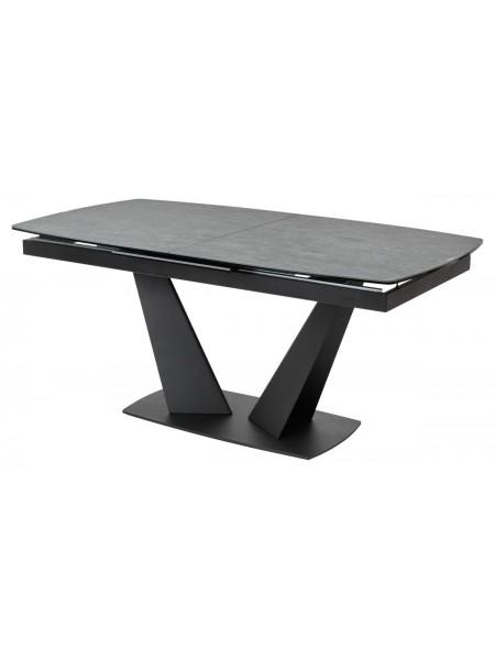 Стол ACUTO2 170 DARK CEMENT Тёмно-серый мрамор матовый, керамика/ черный каркас М-City NEW!
