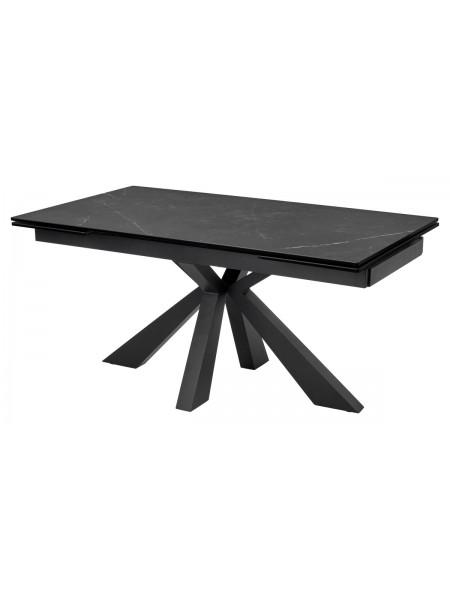 Стол ALEZIO 160 KL-135 Серо-коричневый мрамор матовый, итальянская керамика/ BLACK М-City