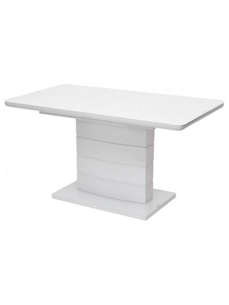 Стол ALTA 140 WHITE / супер белое глянцевое стекло М-City