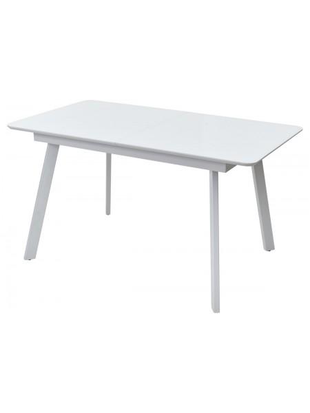 Стол ARUBA 140 Белый, стекло / белый каркас М-City
