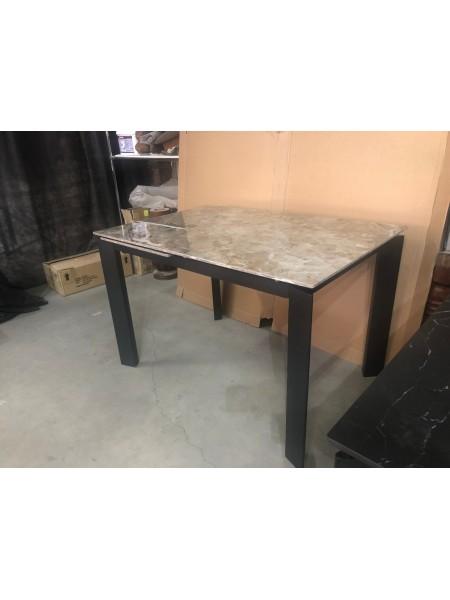 Стол CORNER 120 GLOSS ATHENS BROWN SINTERED STONE / BLACK М-City