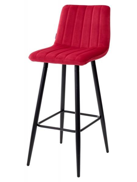 Барный стул DERRY G108-38 винный, велюр М-City