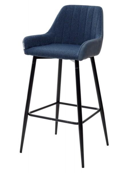 Барный стул PUNCH полночный синий TRF-06/ экокожа синяя сталь RU-03 М-City