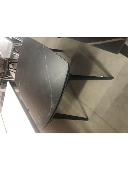 Стол ELIOT 120 MATT BLACK MARBLE SINTERED STONE/ BLACK М-City