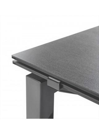Стол GATE CB/4088-MV 180, MT.P15 BLACK/MT.P15 BLACK FRAME/ CER.P321 LEAD GREY