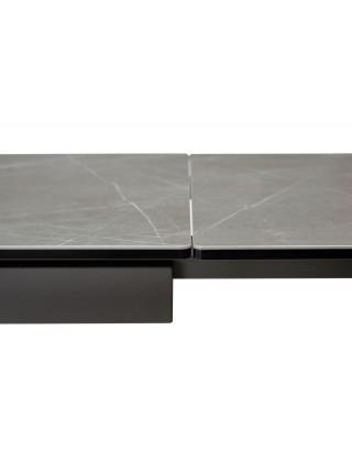 Стол ALTO 160 KL-136 Серый мрамор матовый, итальянская керамика/ GREY1 каркас М-City