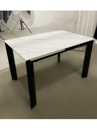 Стол CORNER 120 SINTERED STONE MATT WHITE MARBLE/ BLACK М-City