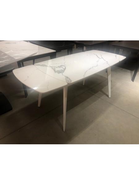 Стол ELIOT 120 GLOSS STATUARIO WHITE SINTERED STONE / WHITE М-City