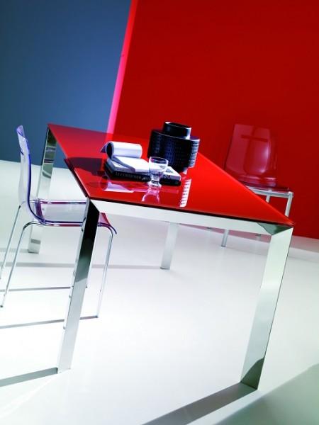 Стол SIRIO (42,38G) 110/150х75хН75 см (G093 LEGS/ M089 FRAME/C152 черн глянц ст)