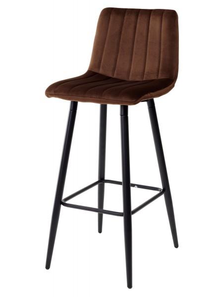 Барный стул DERRY G062-10 шоколадный, велюр М-City