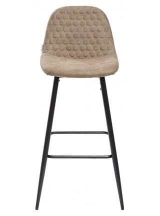 Барный стул LION BAR PK-01 серо-коричневый, ткань микрофибра PK-01 М-City