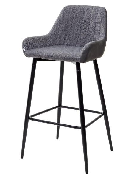 Барный стул PUNCH серый кварц TRF-09/ экокожа антрацит RU-08 М-City