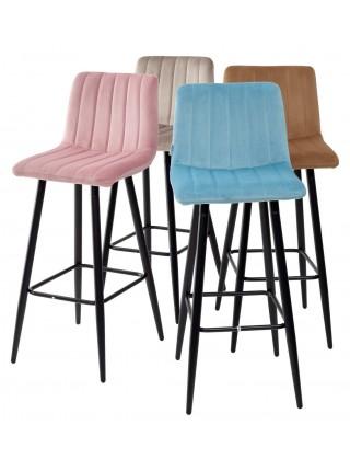 Барный стул DERRY G062-13 кварцевый, велюр М-City