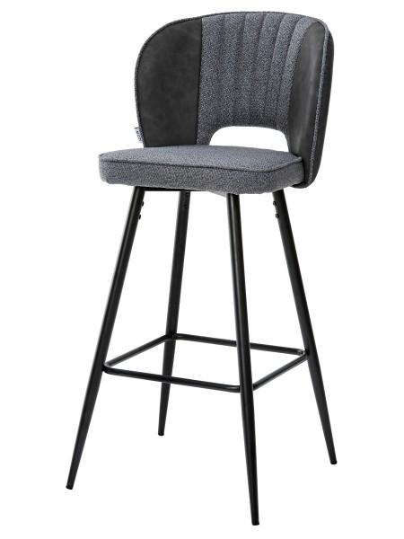 Барный стул HADES TRF-09 серый кварц, ткань/ RU-08 антрацит, PU М-City