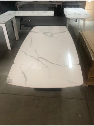 Стол ALATRI 120 GLOSS STATUARIO WHITE SINTERED STONE / BLACK М-City