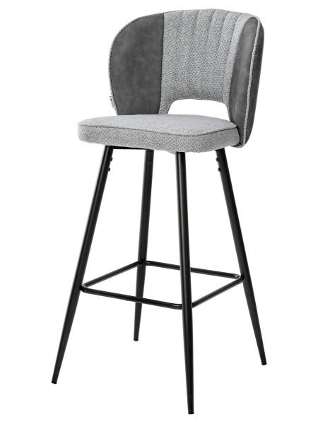 Барный стул HADES TRF-08 теплый серый, ткань/ RU-07 серая сталь, PU М-City