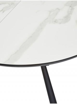 "Стол VOLAND BIANCO TL-45 испанская керамика/ BLACK ""белый мрамор"" М-City"