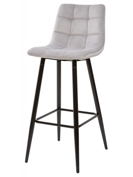 Барный стул LECCO UF910-02 LIGHT GREY, велюр М-City