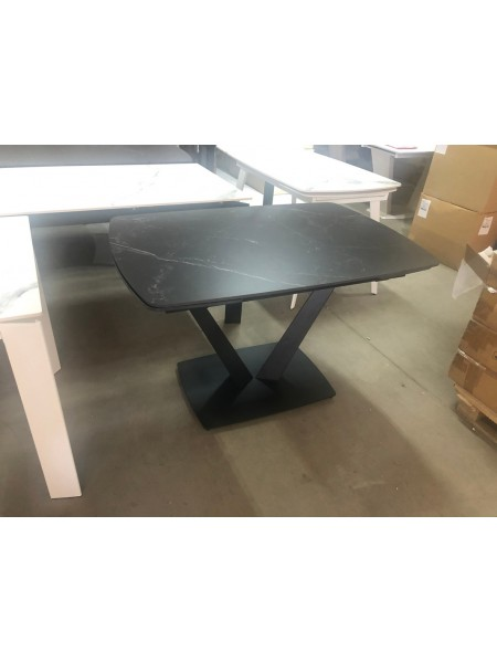 Стол ALATRI 120 MATT BLACK MARBLE SINTERED STONE / BLACK М-City