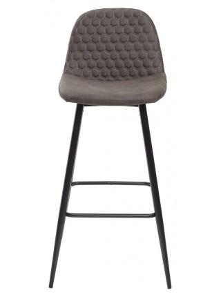 Барный стул LION BAR PK-04 темно-серый, ткань микрофибра М-City