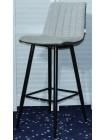 Барный стул DERRY светло-серый меланж FC-01/ экокожа хаки RU-04 М-City