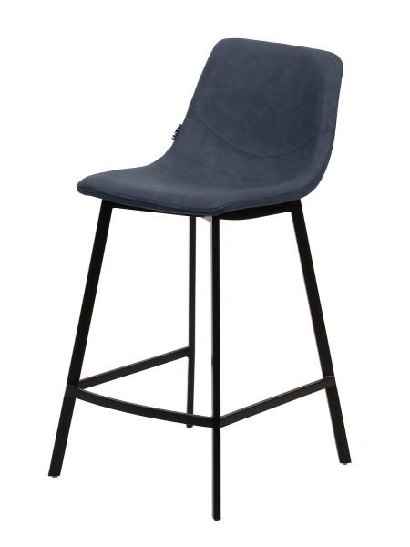 Барный стул HAMILTON RU-03 синяя сталь, PU М-City