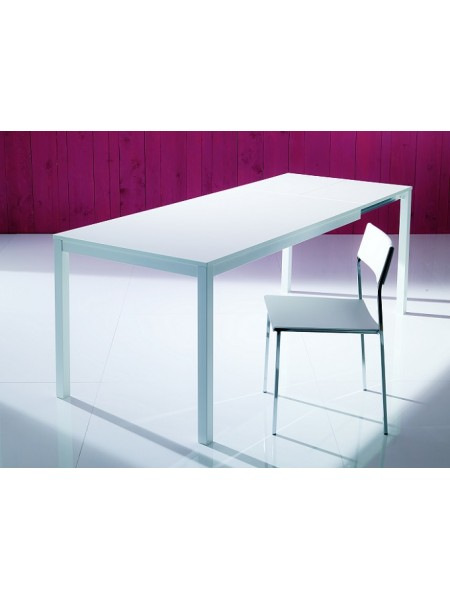 Стол MAGO (01.34) 100/140*70*Н75 см (М089/ M089/ С181 сер-кор.мат ст+L072алюм.)